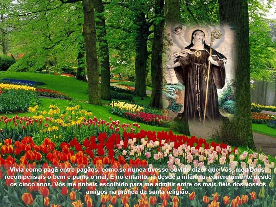 Vivia como pagã entre pagãos, como se nunca tivesse ouvido dizer que Vós, meu Deus, recompensais o bem e punis o mal.