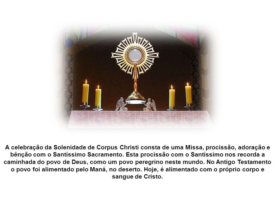 Santo Tomás de Aquino afirmou Nenhum outro sacramento é mais salutar do que a Eucaristia.