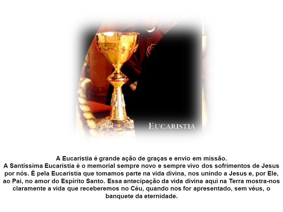 A celebração da Solenidade de Corpus Christi consta de uma Missa, procissão, adoração e bênção com o Santíssimo Sacramento. Esta procissão com o Santí