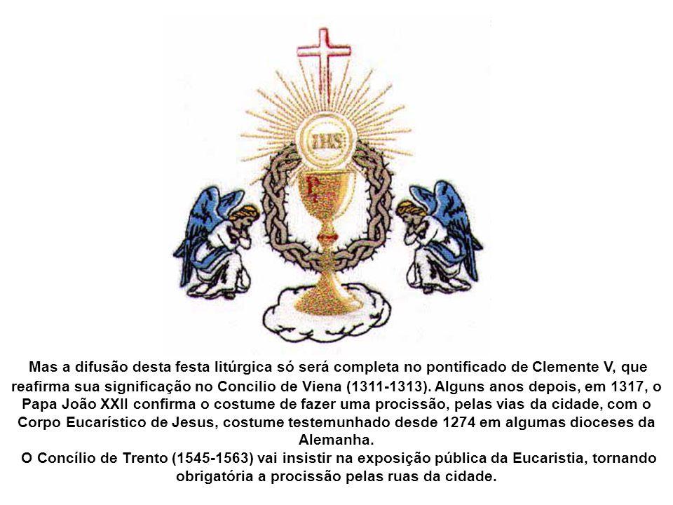 Quando as ideias de Juliana chegaram ao bispo, ele acabou por acatá-las, e em 1246, na sua diocese, celebra-se pela primeira vez uma festa do Corpo de Cristo.