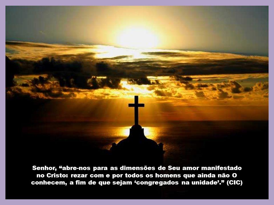 Se rezamos ao Nosso Pai, saímos do individualismo, pois o Amor que acolhemos nos liberta. Os batizados não podem rezar ao Pai nosso sem levar para jun