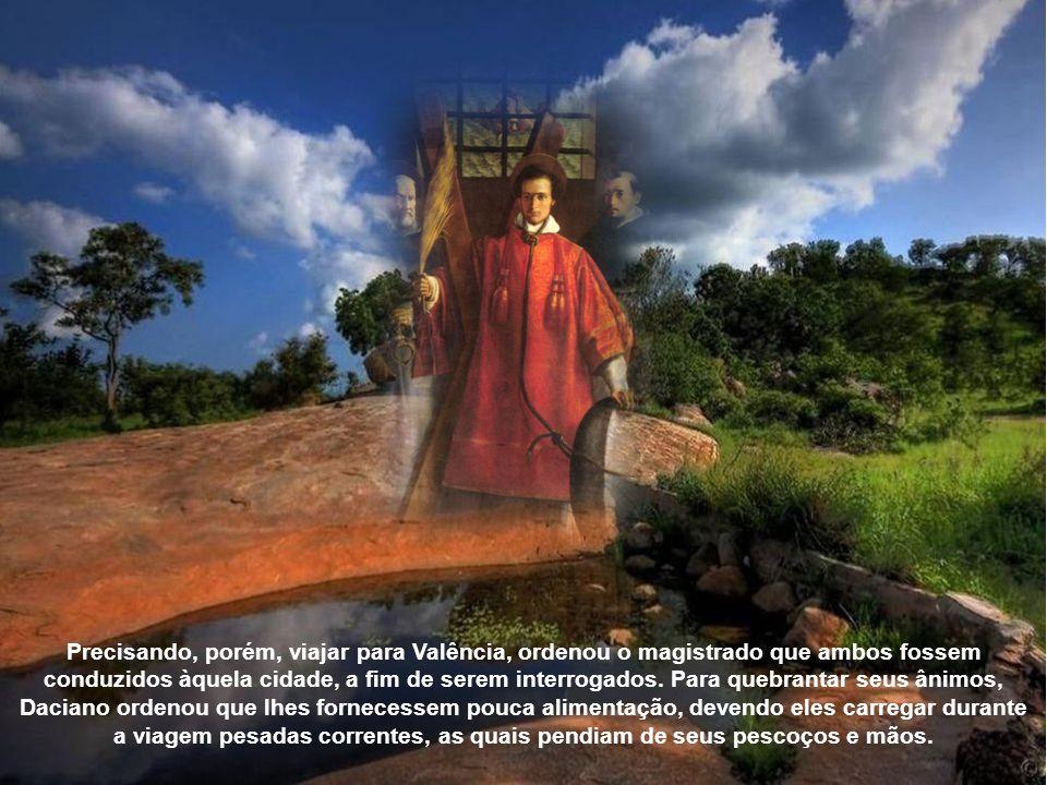 Sendo Valério tartamudo, estando assim impossibilitado de pregar e instruir os fiéis, incumbiu Vicente de exercer essa função. Durante a perseguição d