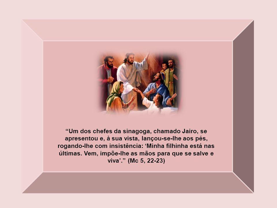 Foi então Jesus à casa de Pedro, cuja sogra estava de cama, com febre. Tomou-lhe a mão, e a febre a deixou. Ela levantou-se e pôs-se a servi-los. (Mt