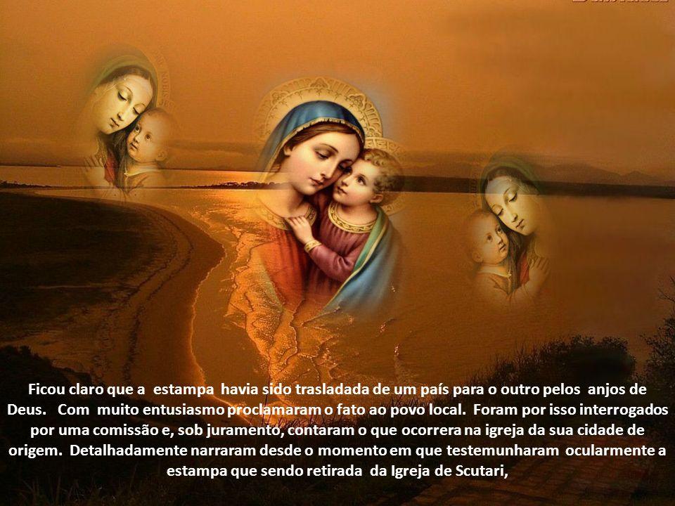 Tomando conhecimento do grande milagre ocorrido em Genezzano, os dois peregrinos Solavis e Georgirs, foram também reverenciar Nossa Senhora do Bom Con