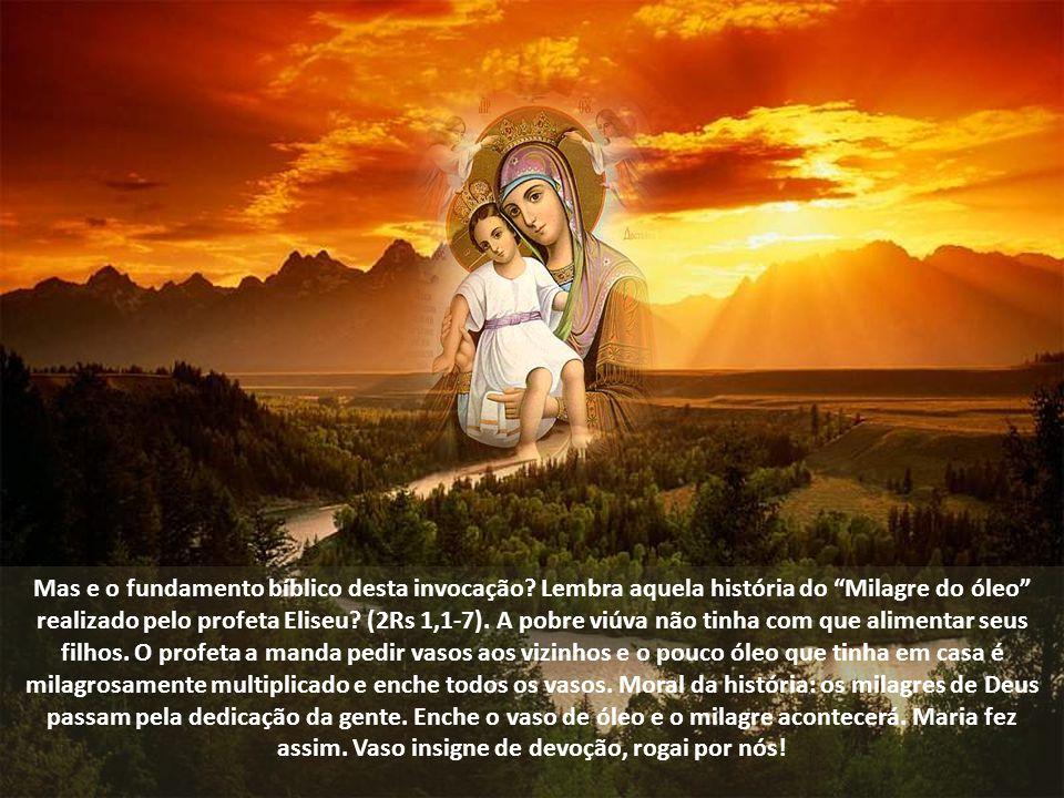 Não abortou o Filho de Deus. Mais que isso, o acolheu com devoção. Em alguns lugares esta invocação é traduzida como Casa consagrada a Deus. É uma bel
