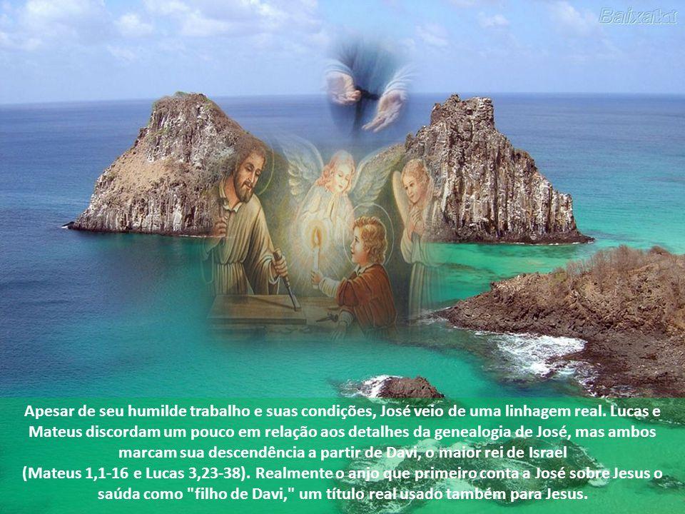 São José era um carpinteiro, um trabalhador, tanto que, em Nazaré, perguntaram em relação a Jesus,