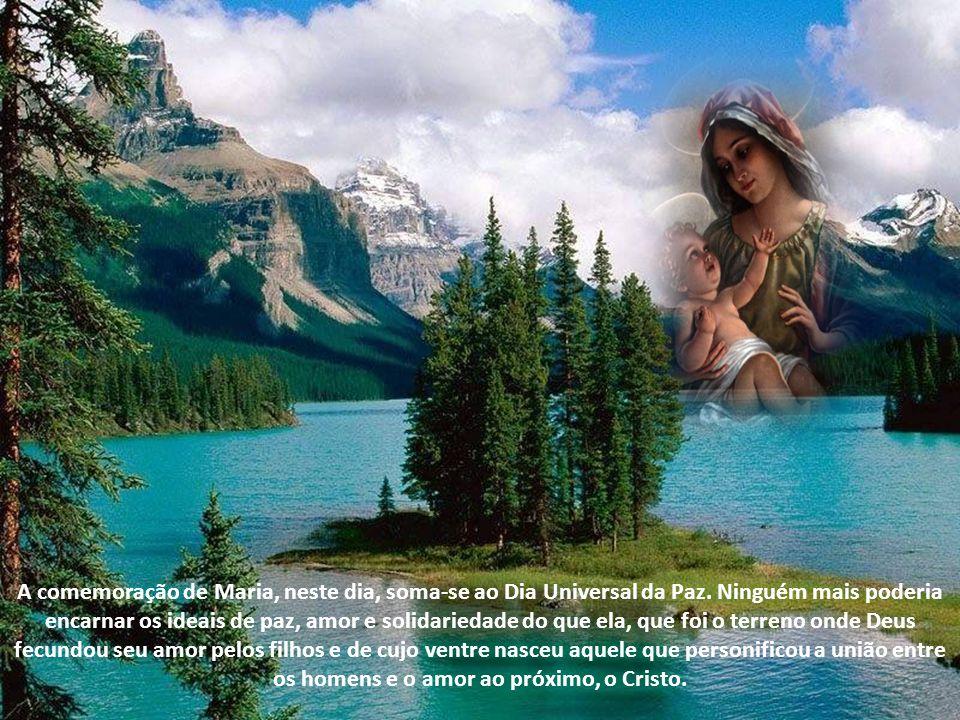 Assim, com esses objetivos entreguemos o novo ano à proteção de Maria Santíssima que, quando se tornou Mãe de Deus, fez-se também nossa Mãe, incumbiu-