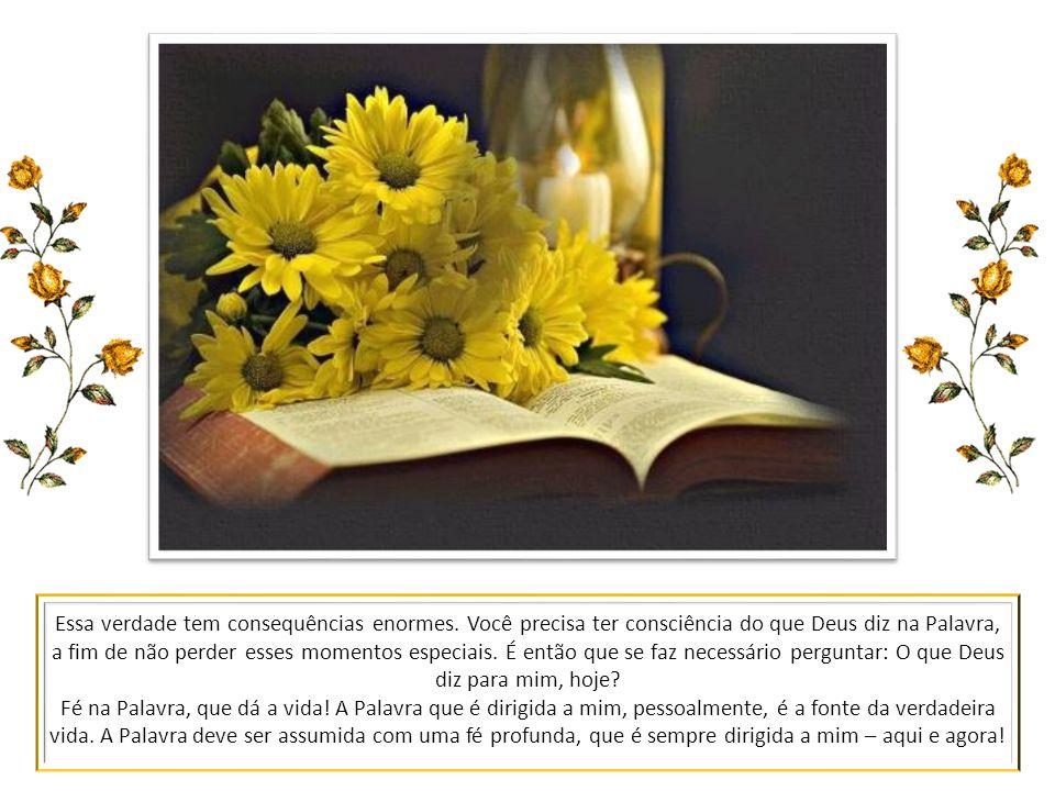 Fé na Palavra, que é viva! O Verbo é o próprio Cristo: Ele é a Palavra viva! A Bíblia, ou Sagrada Escritura, é como uma carta enviada, que hoje atuali