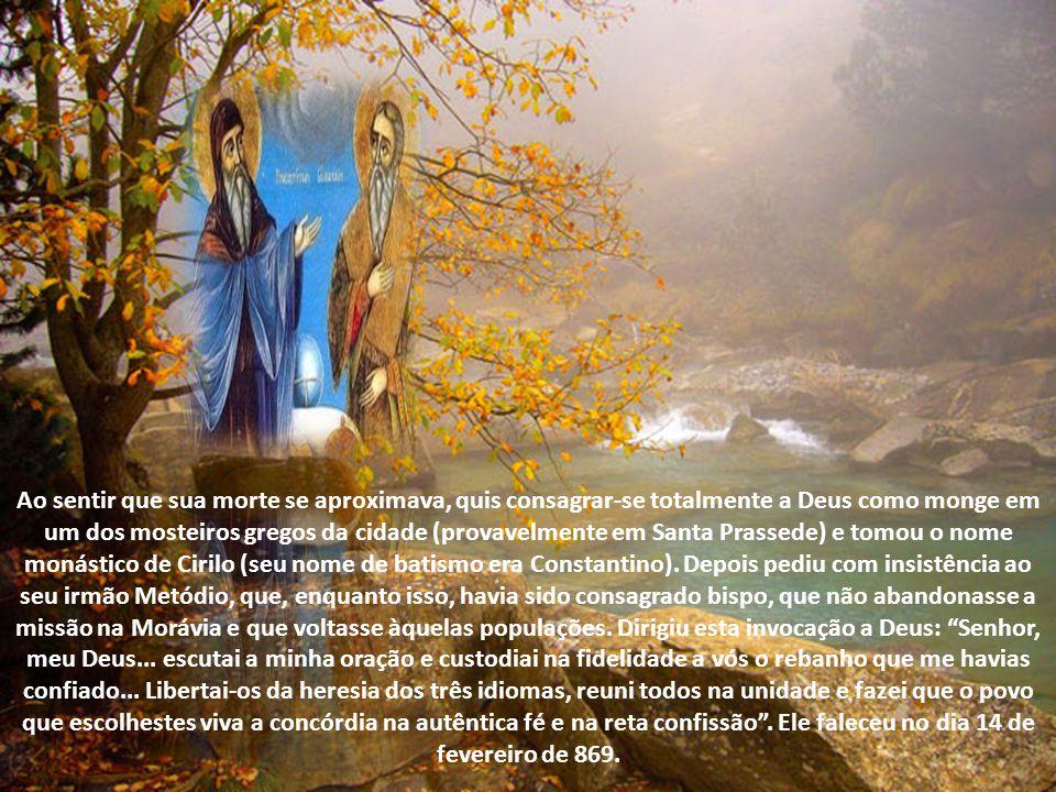 O Papa intuiu que os povos eslavos poderiam desempenhar o papel de ponte, contribuindo desse modo a conservar a união entre os cristãos de uma e de ou