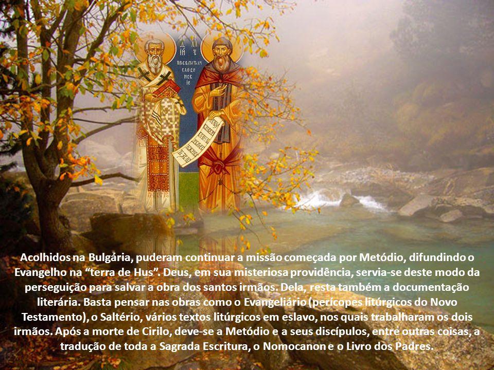 Fiel ao compromisso assumido com seu irmão, no ano seguinte, 870, Metódio voltou à Morávia e a Panoia (hoje Hungria), onde enfrentou novamente a viole