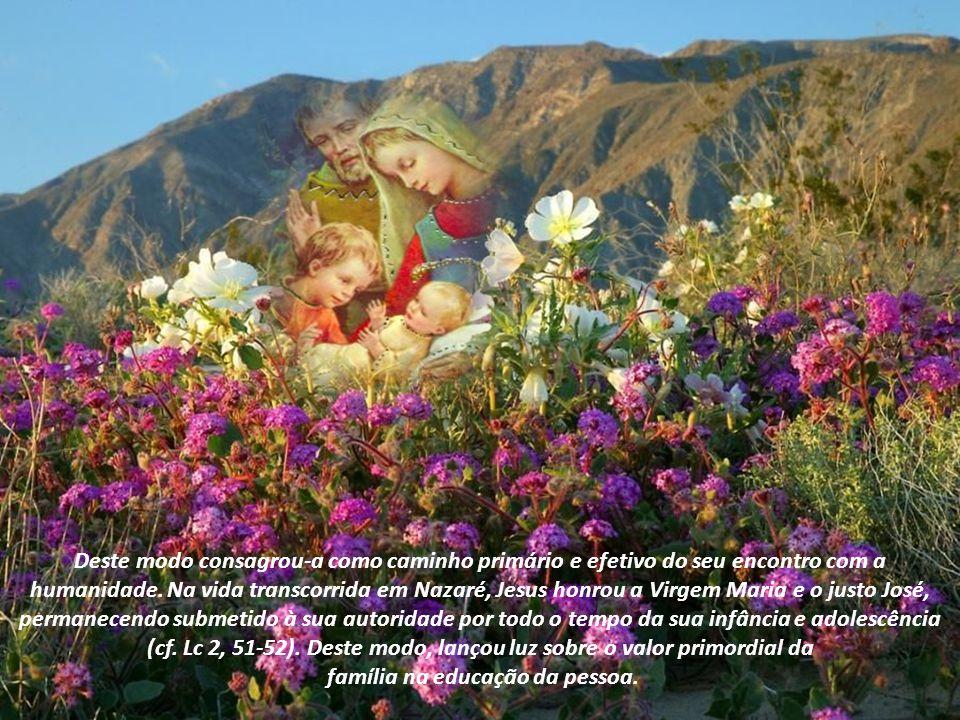 O que nos diz o Papa Bento XVI sobre a Sagrada Família de Nazaré: Hoje celebramos a festa da Sagrada Família de Nazaré. É com alegria que dirijo uma s