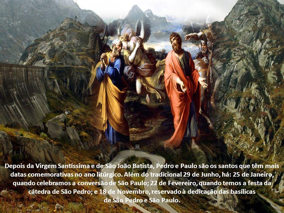 A solenidade de São Pedro e de São Paulo é uma das mais antigas da Igreja, sendo anterior até mesmo à comemoração do Natal. Já no século IV havia a tr