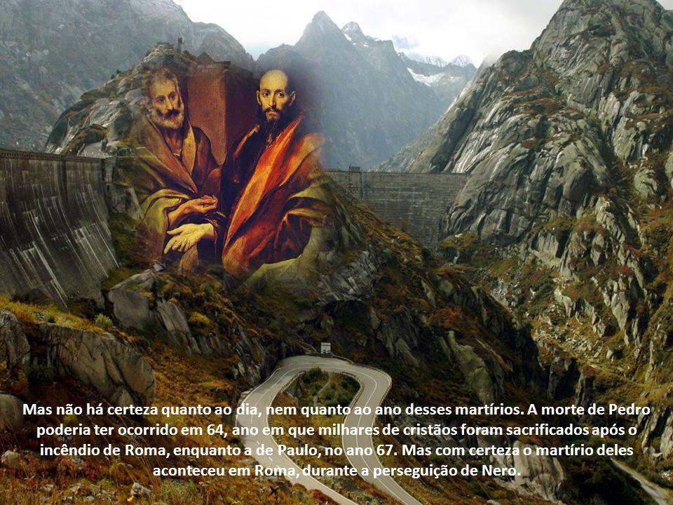 Antigamente, julgava-se que o martírio dos dois apóstolos tinha ocorrido no mesmo dia e ano e que seria a data que hoje comemoramos. Porém o martírio