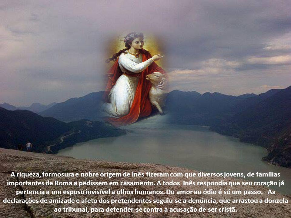 De modo semelhante se exprimem Santo Ambrósio e Santo Agostinho. Com Maria Santíssima e Santa Tecla, Santa Inês é invocada para obter-se a virtude da