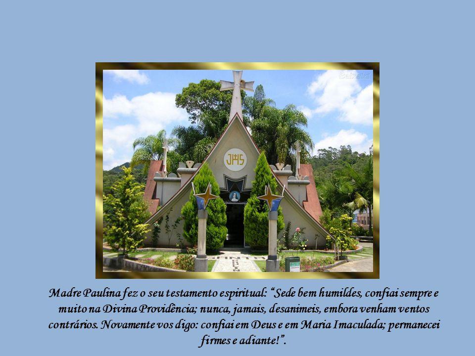 Terminado o capítulo de agosto de 1909, começava o holocausto doloroso e meritório de Madre Paulina, a quem o Arcebispo de São Paulo decretara: Viva e
