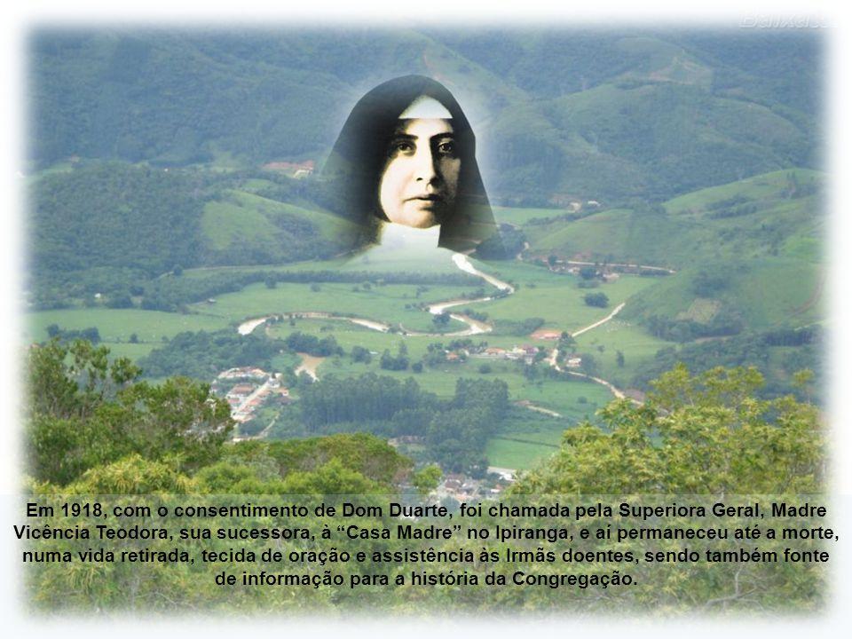 Em 1903, Madre Paulina foi eleita Superiora Geral por toda a vida pelas Irmãs da nascente congregação. Deixou Nova Trento e estabeleceu-se em São Paul