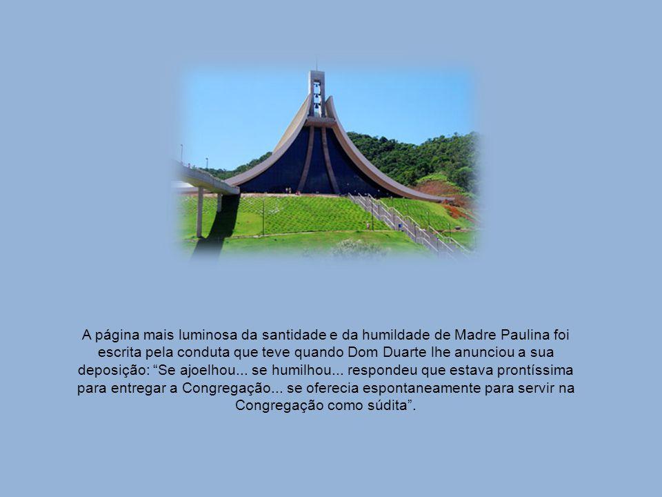 A espiritualidade inaciana, recebida de seus diretores espirituais, tem em Madre Paulina características próprias, que marcam a Veneranda Madre Fundad