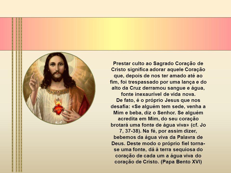 Entre os documentos mestres nesta matéria encontramos a encíclica de Pio XII, Haurietis Aquas, de 15 de Maio de 1956. Pio XII salienta que é o próprio