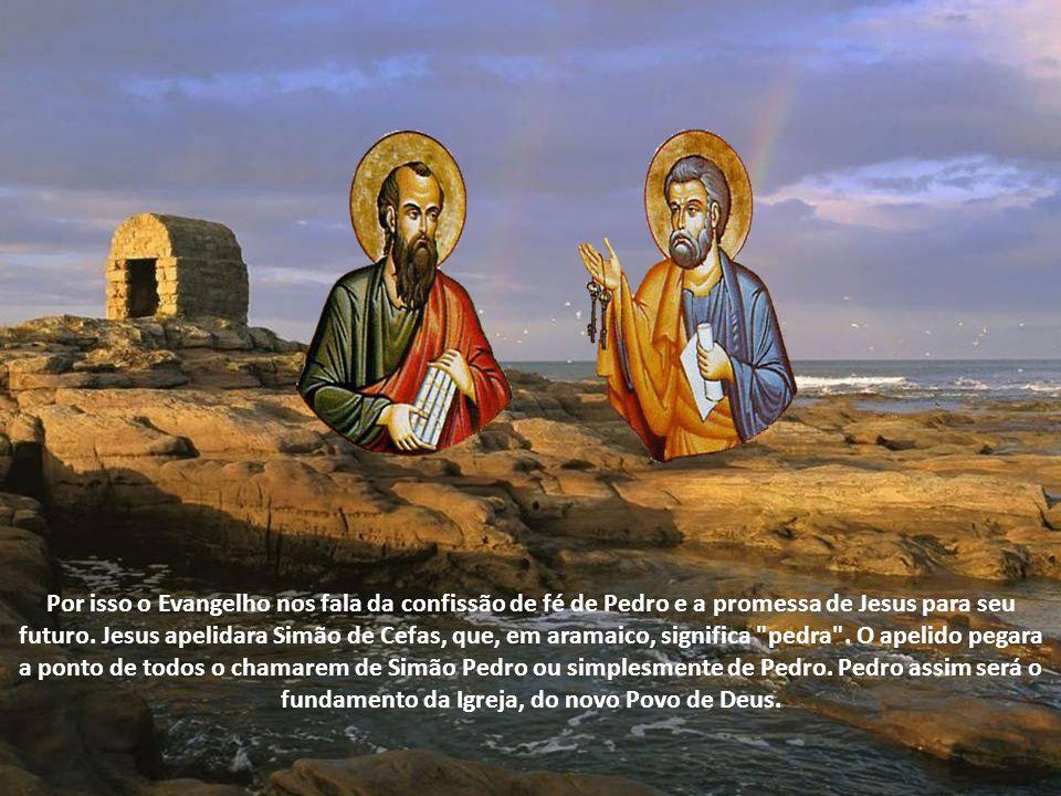 Pedro foi crucificado de cabeça para baixo. Os artistas da iconografia católica colocaram as chaves da Igreja em sua mão, para distinguir o seu encarg