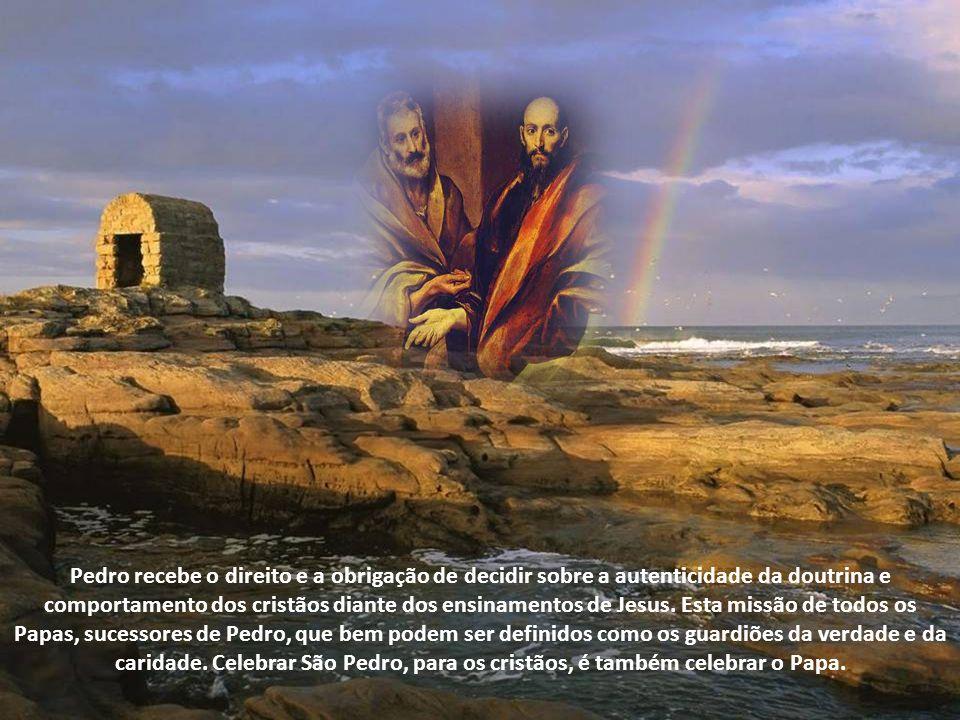O texto aproxima-se muito à promessa de Jesus, até mesmo na escolha de um humilde pescador para administrar a nova casa de Deus. Assim como Eliaquim n