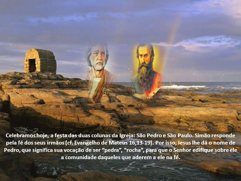 Pedro e Paulo representam duas dimensões da vocação apostólica. Eis os santos que, vivendo neste mundo, plantaram a Igreja, regando-a com seu sangue.