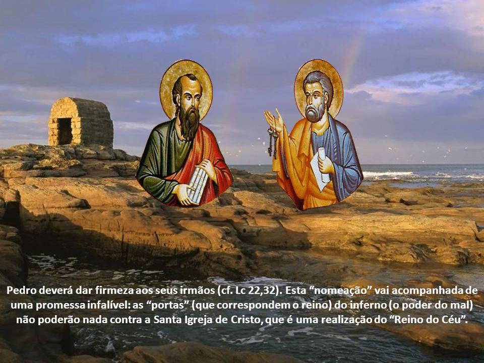 Celebramos hoje, a festa das duas colunas da Igreja: São Pedro e São Paulo. Simão responde pela fé dos seus irmãos (cf. Evangelho de Mateus 16,13-19).