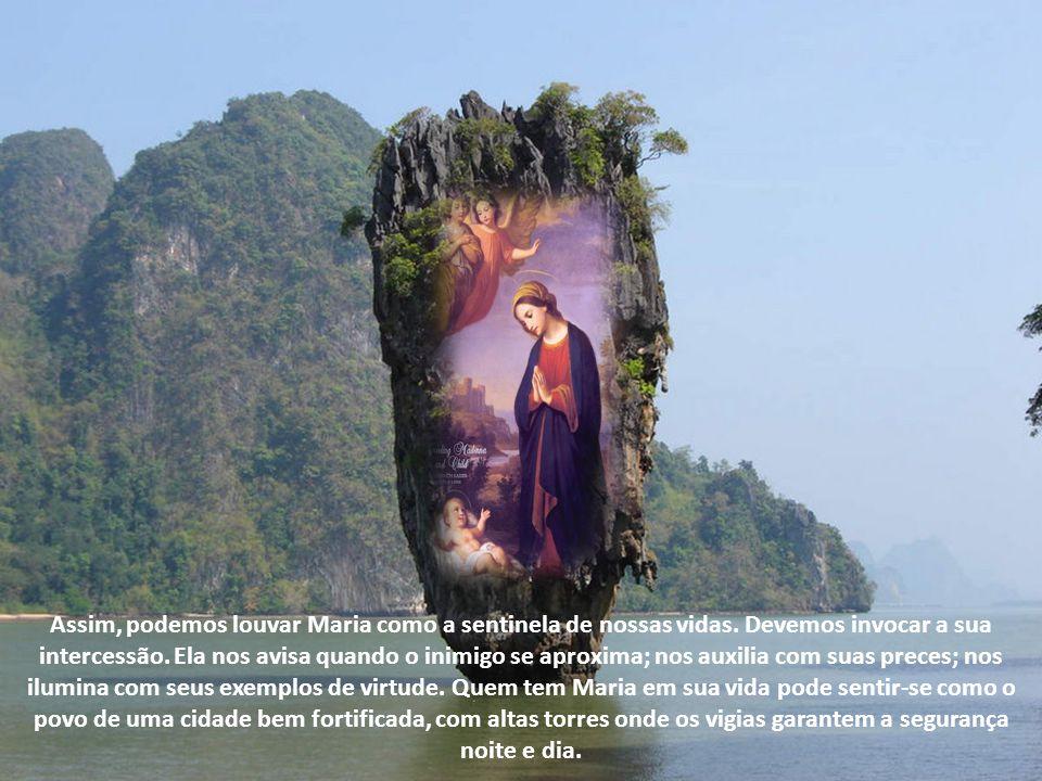 Assim, podemos louvar Maria como a sentinela de nossas vidas.