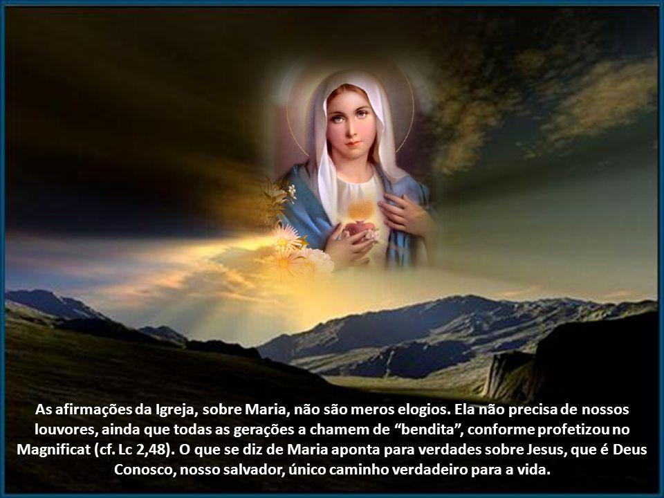 Deus toca a nossa terra para nos abrir as portas do céu. A virgindade de Maria é o receptáculo desse mistério. Nele foi tecida a nossa salvação. Enqua