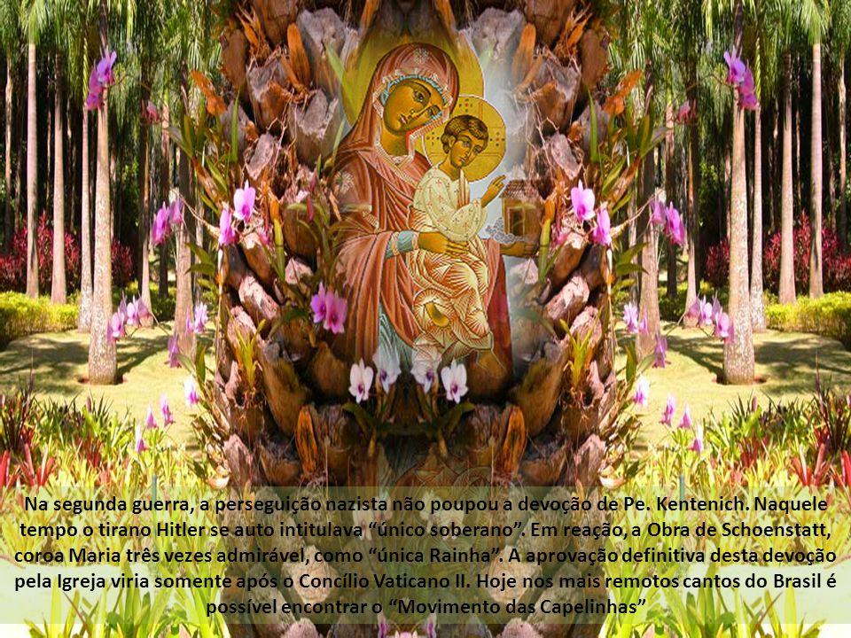 Em meio aos aglomerados urbanos, onde a pressa e a violência dão o tom da vida cotidiana, é possível encontrar uma capelinha da Mãe Três vezes Admirável e esconder-se no colo daquela que fez Jesus dormir.