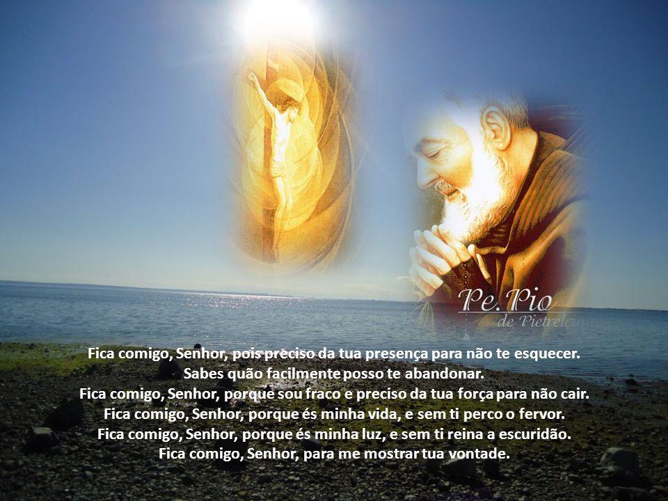 Fica comigo, Senhor, pois preciso da tua presença para não te esquecer.