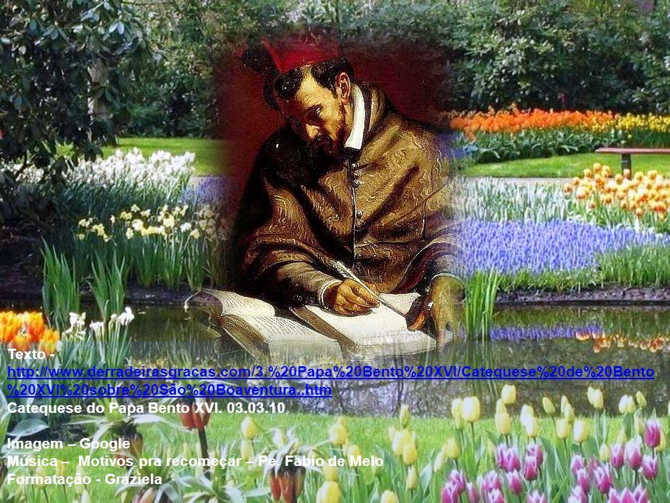 Recolhamos a herança deste santo Doutor da Igreja, que nos recorda o sentido da nossa vida, com as seguintes palavras: Sobre a terra [...] podemos contemplar a imensidão de Deus mediante o raciocínio e a admiração; na pátria celeste, ao contrário, mediante a visão, quando seremos feitos semelhantes a Deus, e através do êxtase [...] entraremos na alegria de Deus.