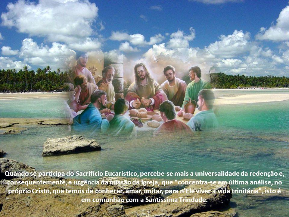 A Eucaristia está no coração da missão cristã e revela as chaves para se viver o espírito eucarístico na dimensão missionária. A Eucaristia edifica a
