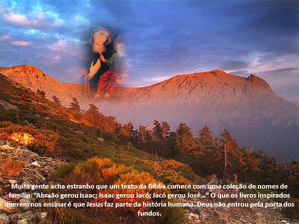 São presentes que indicavam uma presença maior. Mas na plenitude dos tempos o próprio Deus veio nos visitar. Esta era a grande esperança dos patriarca