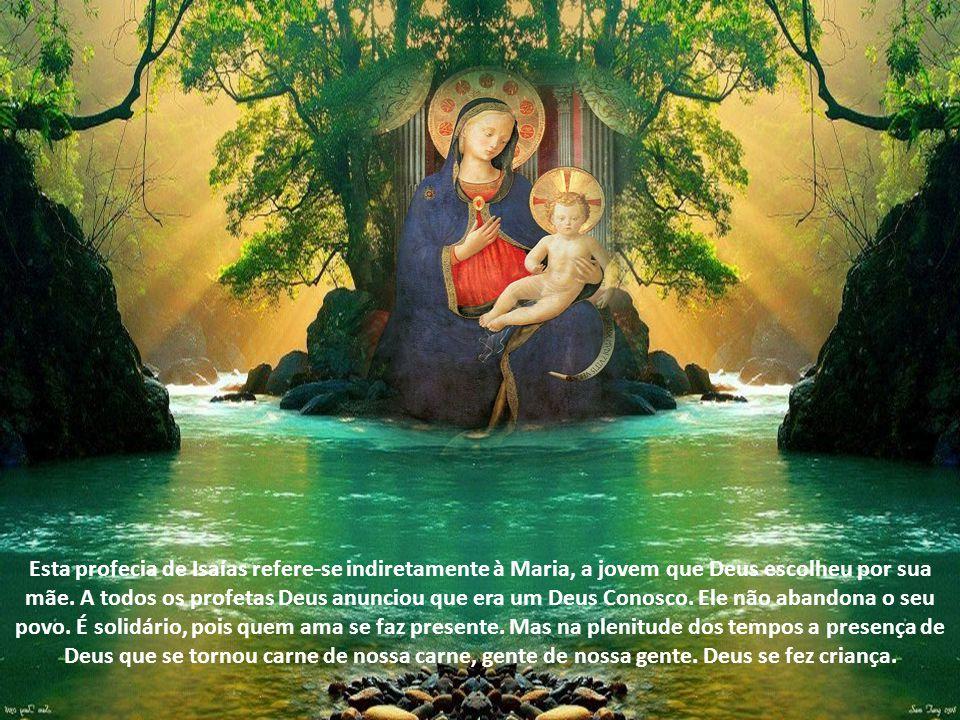José, filho de Davi, não temas receber Maria por esposa, pois o que nela foi concebido vem do Espírito Santo.