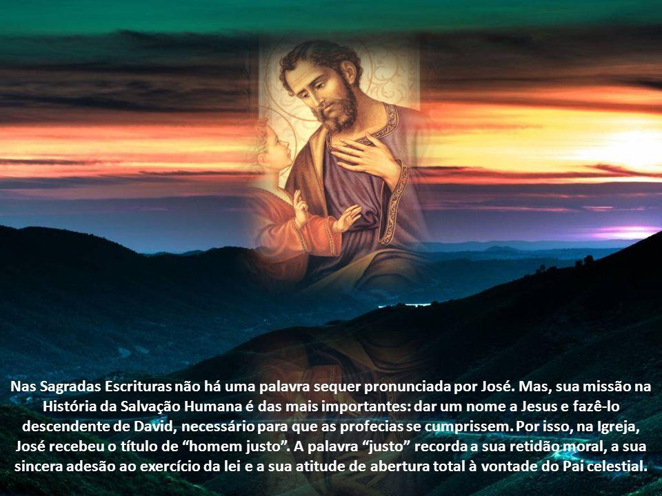 José é, praticamente, o último elo de ligação entre o Velho e o Novo Testamento, o derradeiro patriarca que recebeu a comunicação de Deus vivo, atravé