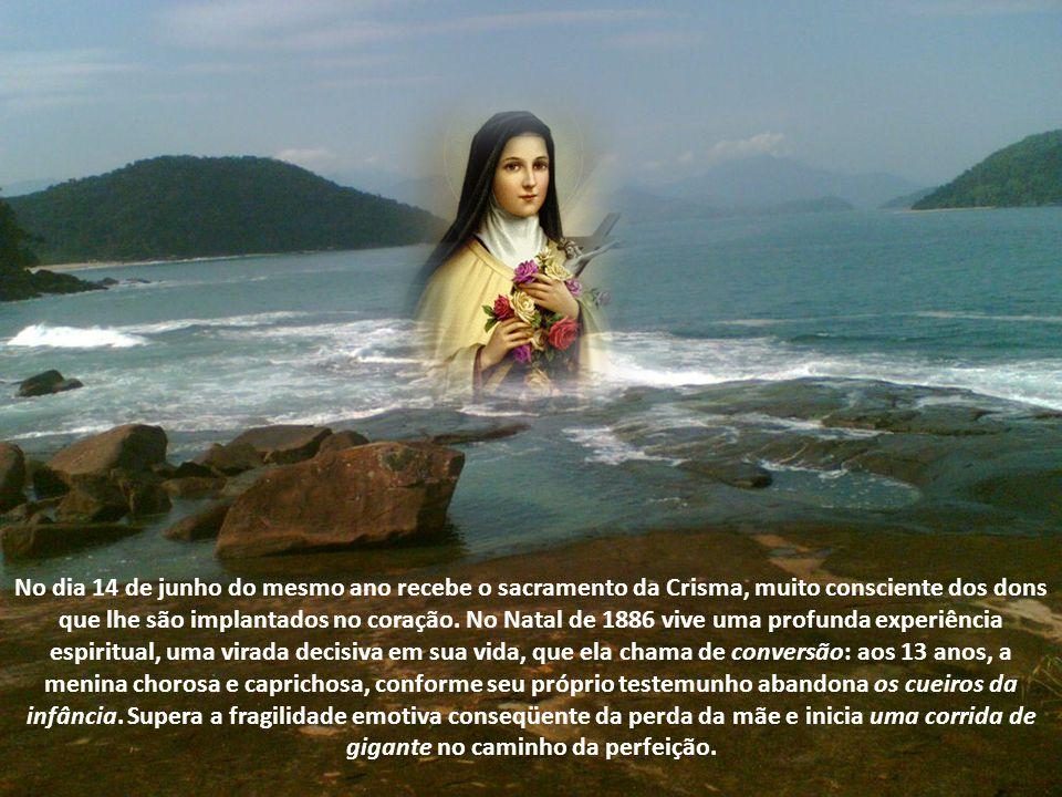 No dia 14 de junho do mesmo ano recebe o sacramento da Crisma, muito consciente dos dons que lhe são implantados no coração. No Natal de 1886 vive uma