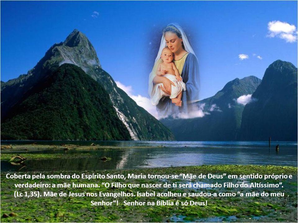 O Verbo se fez carne e veio morar no meio de nós. O mistério de nossa comunhão com Cristo inclui a maternidade divina de Maria. Vê-la como a Mãe de De