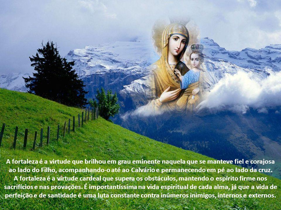 Maria, Mulher Fiel e Corajosa A força da mãe que acompanhou Jesus no Calvário; a fidelidade a Deus com o seu sim.