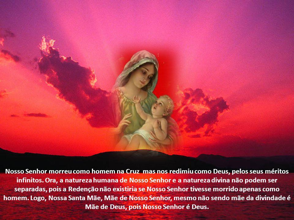 O Espírito e Alma de Cristo também vieram de Deus. Nossa mãe não é mãe do nosso corpo, mas mãe de nossa pessoa. Assim também Maria é Mãe de Cristo. El