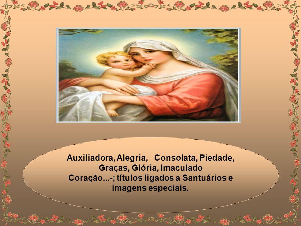 Anunciação, Natividade, Desterro Apresentação, Visitação, Dores...; devoções ligadas a traços de sua personalidade e dons.