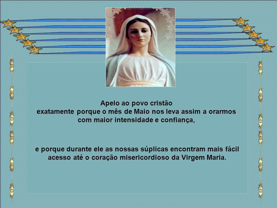 Maria, caminho que leva a Cristo. Maria é sempre caminho que leva a Cristo. Nenhum encontro com Ela pode deixar de ser encontro com Cristo. E que outr