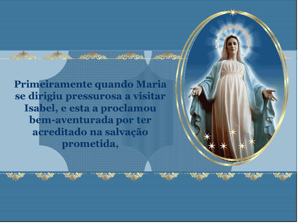 Esta união de Mãe com o Filho, na obra da redenção, manifesta- se desde o momento em que Jesus é concebido virginalmente, até a sua morte.