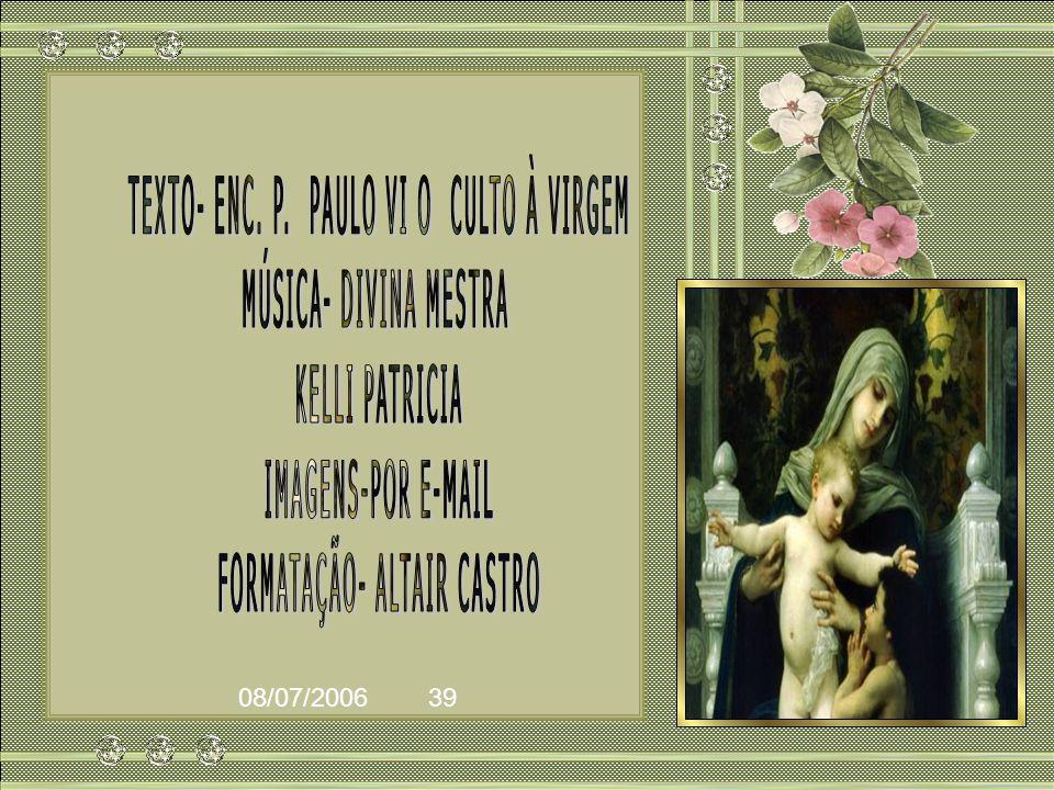 Esta materna missão de Maria, pois, impele o Povo de Deus a dirigir-se, com filial confiança àquela que está sempre pronta para o atender, com afeto d