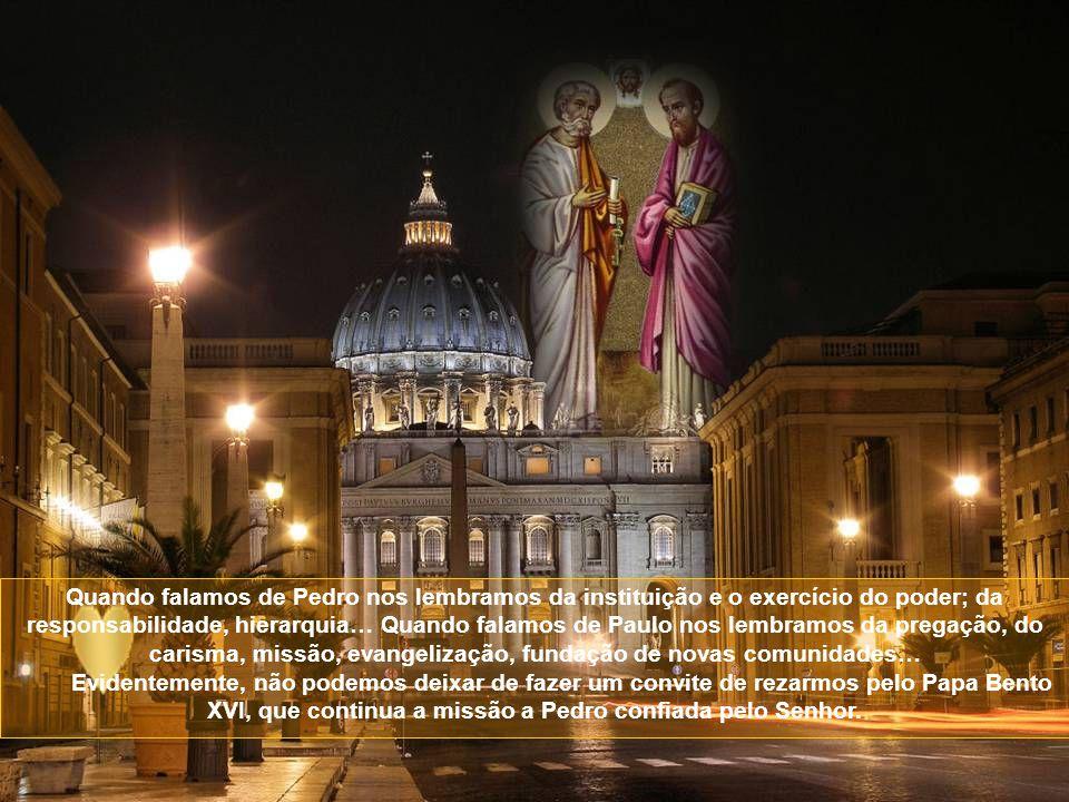 Num só dia celebramos o martírio dos dois apóstolos. Na realidade, os dois eram como um só. Embora tenham sido martirizados em dias diferentes, deram