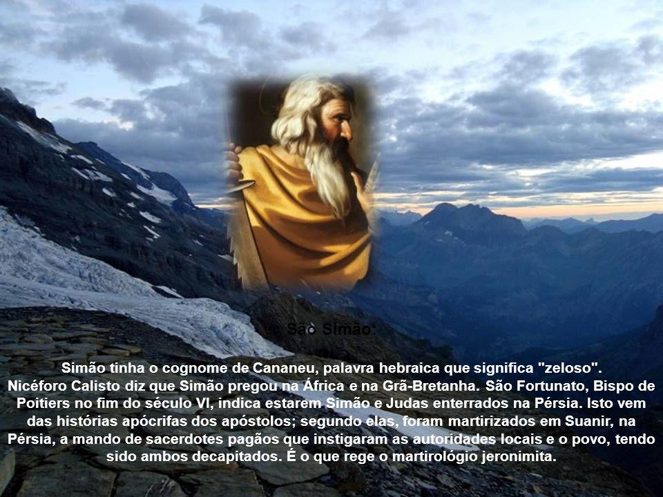 São JudasTadeu era irmão do Apóstolo São Tiago o Menor, sendo ambos filhos de Cleófas e de Maria, primos de Nosso Senhor. Há notícias de mais dois fil