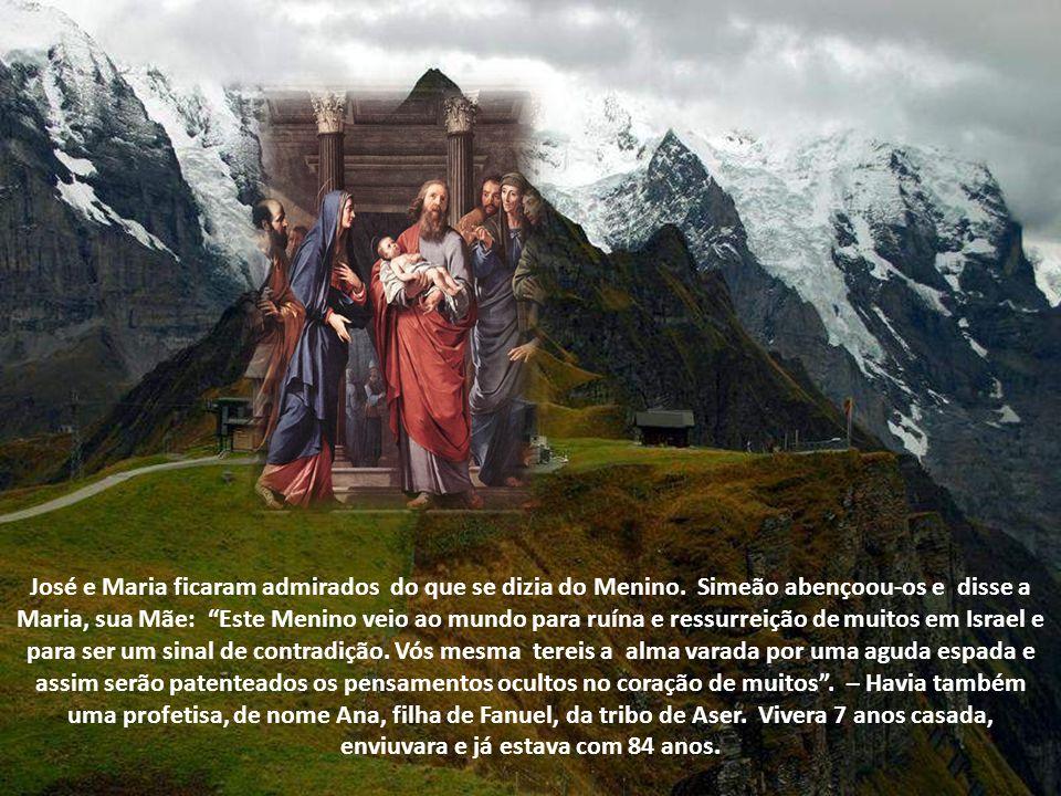 Como os magos conheceram o Salvador, este se fez conhecido a Simeão, o qual o tomou nos braços e bendisse a Deus, dizendo: Agora, Senhor, deixa partir