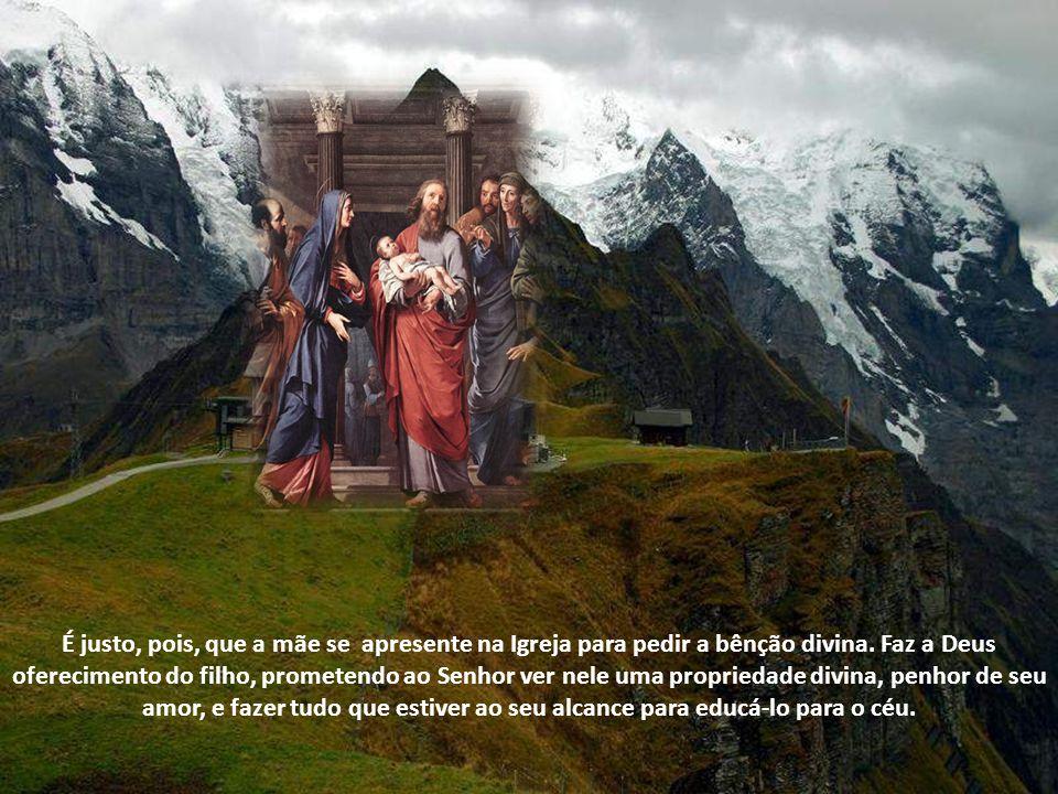É provável que este uso se tenha introduzido na Igreja em memória e veneração à Mãe de Deus que, obediente à Lei do seu povo, fez sua apresentação no