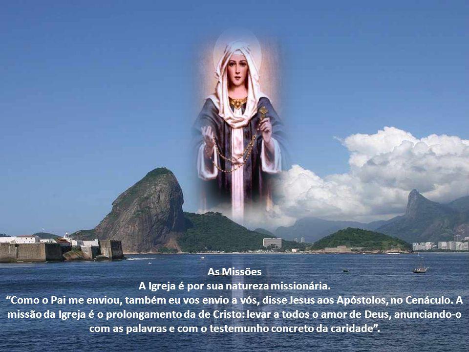 Peçamos a Maria, Mãe Imaculada, em qualquer das denominações que o povo devoto lhe atribui, que nos ajude a ser missionários da Palavra de seu Filho J