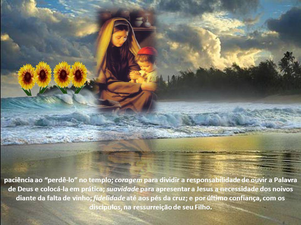 Portanto todas as mães, inspiradas em Maria, devem oferecer condições a seus filhos de reconhecerem qual é a vontade de Deus e obedecê-la. Mesmo que i