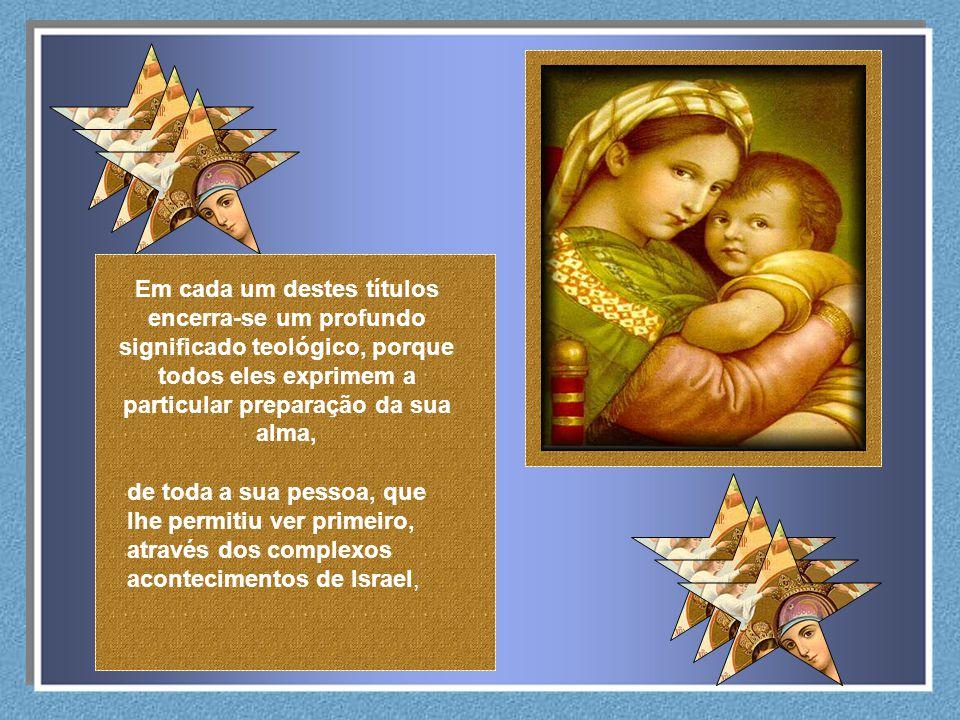 Maria é aquela que conhece mais a fundo o mistério da misericórdia divina. Conhece o seu preço e sabe como é elevado. Neste sentido, chamamo-la Mãe da